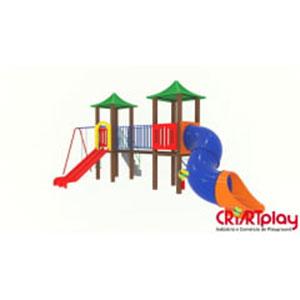 Playground de Tronco de Madeira Plástica