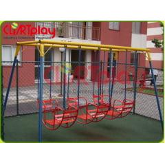 Balanço Gondola Brinquedo de Ferro com 02 ou 03 Barcos