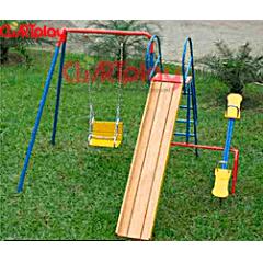 Brinquedo 03 em 01 Balanço Escorregador e Gangorra