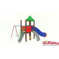 Playground Modular de Madeira Plástica - CMP - 2023