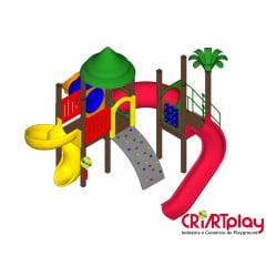 Playground Modular de Madeira Plástica - CMP - 2024