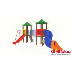 Playground Modular de Madeira Plástica - CMP - 2025