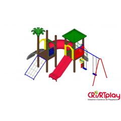 Playground Modular de Madeira Plástica - CMP - 2026