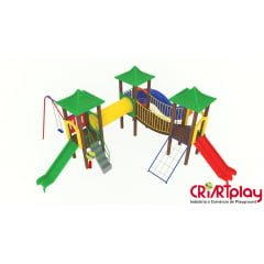 Playground Modular de Madeira Plástica - CMP - 2027
