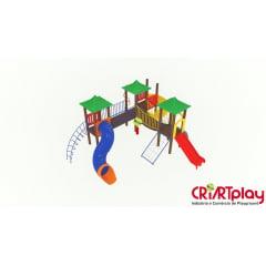 Playground Modular de Madeira Plástica - CMP - 2028