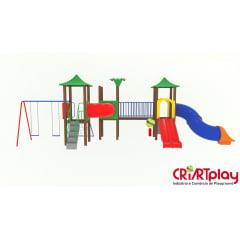 Playground Modular de Madeira Plástica - CMP - 2029