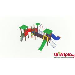 Playground Modular de Madeira Plástica - CMP - 2030