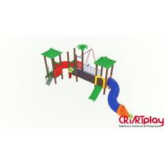 Playground Modular de Madeira Plástica - CMP - 2031
