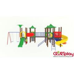 Playground Modular de Madeira Plástica - CMP - 2032