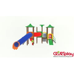 Playground Modular de Madeira Plástica - CMP - 2033