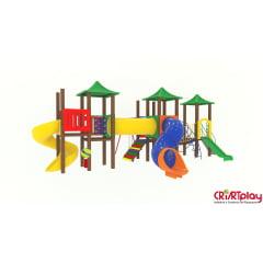 Playground Modular de Madeira Plástica - CMP - 2034