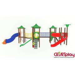 Playground Modular de Madeira Plástica - CMP - 2035