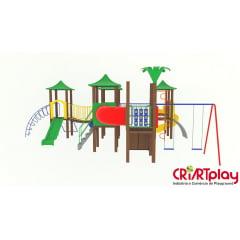 Playground Modular de Madeira Plástica - CMP - 2036