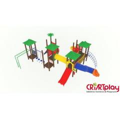 Playground Modular de Madeira Plástica - CMP - 2037