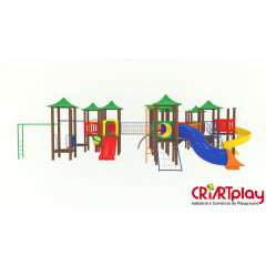 Playground Modular de Madeira Plástica - CMP - 2038