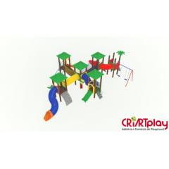 Playground Modular de Madeira Plástica - CMP - 2039