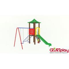 Playground Modular de Madeira Plástica