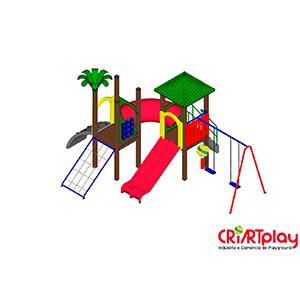 Playground de Madeira Plastica